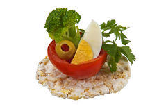 Creative Diet Food With tomato 2. Creative Diet Food With tomato, broccoli egg parsley and green olive Stock Image