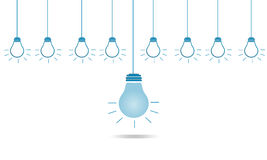 Creative different bulb of leadership in business concept Stock Photography