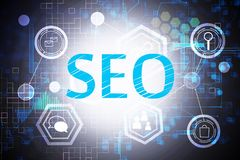 Search engine optimization concept. Creative digital SEO background. Search engine optimization concept. 3D Rendering