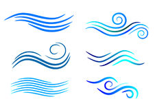 Creative digital water logo and graphic icon. Stylish Abstract Digital bright color logo and graphic art icon Royalty Free Stock Photo