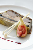 Creative dinner with fresh fig. On white plate stock images