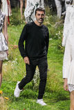 Creative director Giambattista Valli walks the runway during the Moncler Gamme Rouge show Stock Photo