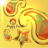 Creative diwali background stock illustration