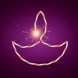 Creative diwali diya Royalty Free Stock Photo