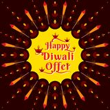 Diwali Festival Offer Poster Design Layout Template. Creative Diwali Festival Offer Poster Design Layout Template vector illustration