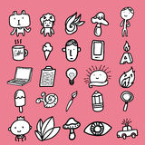 Creative Doodles icon Stock Photos