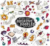 Creative doodles idea brainstorm isolate objects set. Stock Photography