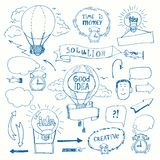Creative doodles thinking concept Stock Photo