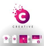 Creative Dots Logo Design Stock Images