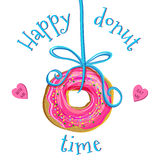Creative doughnut vector illustration Royalty Free Stock Photo