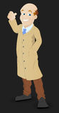 Asking Lift - Cartoon Character - Vector Illustration Royalty Free Stock Photos