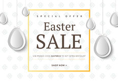 Creative Easter abstract social media web banners for cell phone. Or newsletter ad. Email holiday promotion or sale background. Promotional offer flyer layout Royalty Free Stock Photos