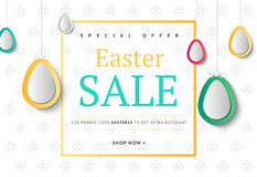 Creative Easter abstract social media web banners for cell phone stock illustration