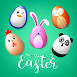 Creative Easter concept of eggs . Royalty Free Stock Images