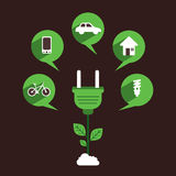 Creative eco energy use concept Royalty Free Stock Photo