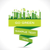 Creative eco-friendly city design background Stock Photography