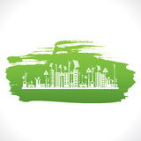 Creative eco-friendly city design background Stock Photo
