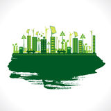 Creative eco-friendly city design vector Royalty Free Stock Photography