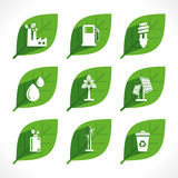 Creative Eco-friendly icon concept Royalty Free Stock Images
