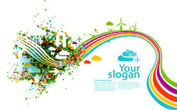 Creative eco illustration Stock Photography