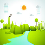 Creative ecology infographic elements. Royalty Free Stock Photo