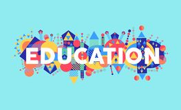 Creative Education concept font illustration Royalty Free Stock Photo