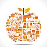 Creative education icon design apple Stock Photo