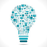 Creative education icon design bulb Stock Photography