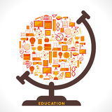 Creative education icon design globe Stock Photo