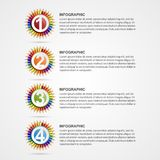 Creative education options infographics. Design template. Vector Illustration Royalty Free Stock Image
