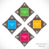 Creative educational Infographics Royalty Free Stock Image