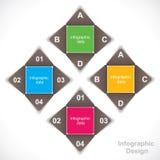 Creative educational Infographics Royalty Free Stock Image