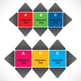 Creative educational Infographics Royalty Free Stock Images