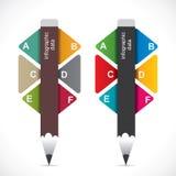 Creative educational Infographics Stock Photo