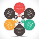 Creative educational Infographics Stock Images