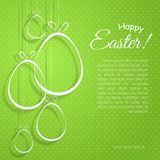Creative eggs with bows on a green background Happy Easter text Element for the design of templates posters banners cards royalty free illustration