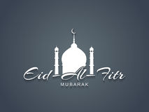 Creative Eid Al Fitr Mubarak text design. Stock Images