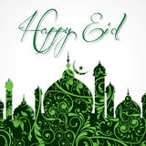 Creative Eid greeting Stock Image