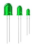 Set of green LEDs Stock Images