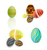Creative elegance eggs set vector isolated Royalty Free Stock Images