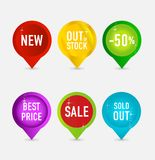 Creative and elegance web pins symbols Royalty Free Stock Photo