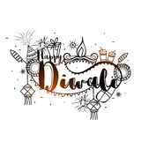 Creative elements for Diwali Celebration. Royalty Free Stock Photography