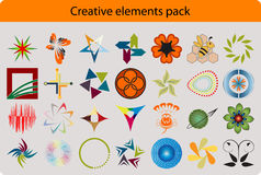 Creative elements pack Stock Image