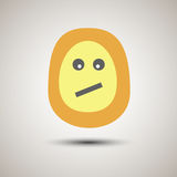 Creative emoji smiley face unsure. Unsure emoticon for apps. Yel Royalty Free Stock Photography