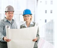 Creative engineer coworkers Royalty Free Stock Photo