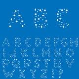 Creative English alphabet Stock Image
