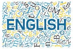 Creative english alphabet texture background Stock Images