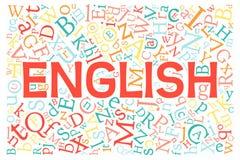 Creative english alphabet texture background Stock Image