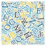 Creative english alphabet texture background Royalty Free Stock Images
