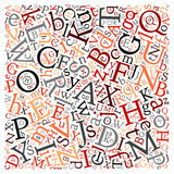 Creative english alphabet texture background Stock Photography